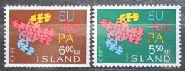 Poštovní známky Island 1961 Evropa CEPT Mi# 354-55