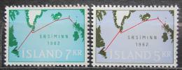Poštovní známky Island 1962 Podmoøský kabel Mi# 366-67