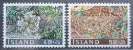 Poštovní známky Island 1967 Ptaèí vejce Mi# 413-14