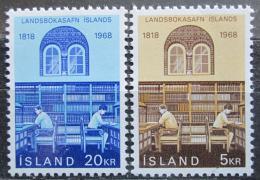 Poštovní známky Island 1968 Národní knihovna, 150. výroèí Mi# 422-23