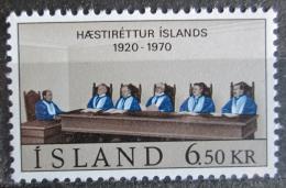 Poštovní známka Island 1970 Vrchní soud, 50. výroèí Mi# 438