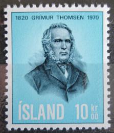 Poštovní známka Island 1970 Grimur Thomsen, básník Mi# 445