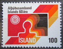 Poštovní známka Island 1976 Odborový svaz, 60. výroèí Mi# 519
