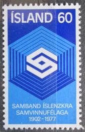 Poštovní známka Island 1977 Spolek družstevníkù, 75. výroèí Mi# 525