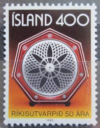 Poštovní známka Island 1980 Státní rádio, 50. výroèí Mi# 562
