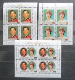 Poštovní známky Aitutaki 1981 Královská svatba pøetisk Mi# 409-11 Bogen Kat 36€