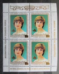 Poštovní známky Aitutaki 1981 Princezna Diana pøetisk Mi# 410 Bogen Kat 12€