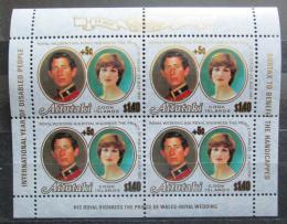 Poštovní známky Aitutaki 1981 Diana a Charles pøetisk Mi# 411 Bogen Kat 16€