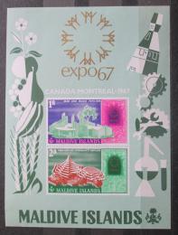 Poštovní známky Maledivy 1967 EXPO Montreal Mi# Block 7