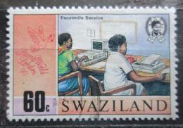 Poštovní známka Svazijsko 1990 Moderní pøenos zpráv Mi# 565