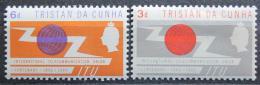 Poštovní známky Tristan da Cunha 1965 ITU, 100. výroèí Mi# 88-89