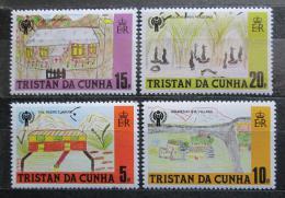 Poštovní známky Tristan da Cunha 1979 Dìtské kresby Mi# 266-69