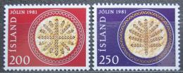 Poštovní známky Island 1981 Vánoce Mi# 574-75