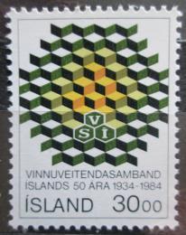 Poštovní známka Island 1984 Dìlnický svaz, 50. výroèí Mi# 621