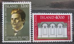 Poštovní známky Island 1984 Národní galerie, 100. výroèí Mi# 622-23