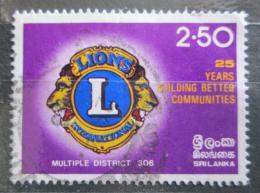 Poštovní známka Srí Lanka 1983 Lions Intl. na Srí Lance Mi# 624 Kat 4€