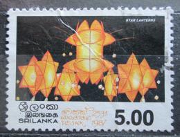 Poštovní známka Srí Lanka 1987 Vesak, lampióny Mi# 786