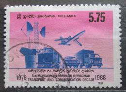 Poštovní známka Srí Lanka 1988 Dopravní prostøedky Mi# 843