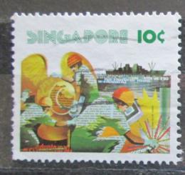 Poštovní známka Singapur 1977 Stavba lodi Mi# 279