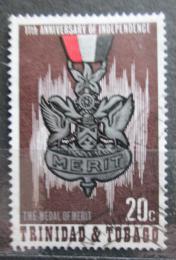 Poštovní známka Trinidad a Tobago 1973 Nezávislost, 11. výroèí Mi# 319