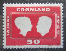 Poštovní známka Grónsko 1967 Královská svatba Mi# 67