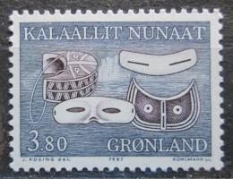Poštovní známka Grónsko 1987 Snìhové brýle Mi# 175
