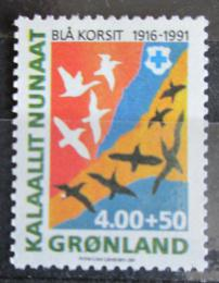 Poštovní známka Grónsko 1991 Modrý køíž, 75. výroèí Mi# 220 Kat 10€