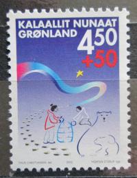 Poštovní známka Grónsko 2002 Projekt pro dìti z problémových rodin Mi# 378