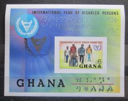 Poštovní známka Ghana 1981 Mezinárodní rok postižených neperf. Mi# Block 93 B