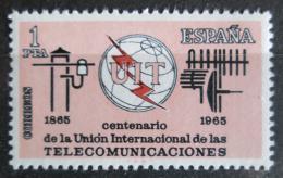 Poštovní známka Španìlsko 1965 ITU, 100. výroèí Mi# 1551