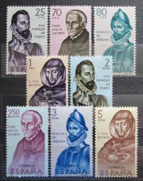 Poštovní známky Španìlsko 1965 Osobnosti v dìjinách Ameriky Mi# 1568-75