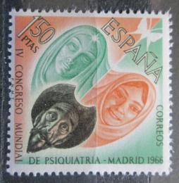 Poštovní známka Španìlsko 1966 Svìtový kongres psychiatrie Mi# 1635