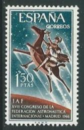 Poštovní známka Španìlsko 1966 Kongres astronautiky Mi# 1644