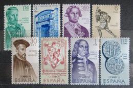 Poštovní známky Španìlsko 1966 Osobnosti dìjin Ameriky Mi# 1645-52