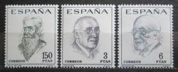 Poštovní známky Španìlsko 1966 Spisovatelé Mi# 1653-55