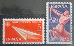 Poštovní známky Španìlsko 1966 Centaur a papírová šipka Mi# 1660-61