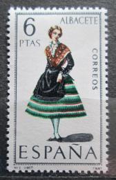 Poštovní známka Španìlsko 1967 Lidový kroj Albacete Mi# 1663