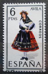 Poštovní známka Španìlsko 1967 Lidový kroj Avila Mi# 1689