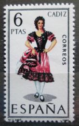 Poštovní známka Španìlsko 1967 Lidový kroj Cádiz Mi# 1723
