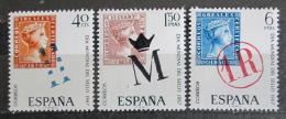 Poštovní známky Španìlsko 1967 Svìtový den známek Mi# 1685-87