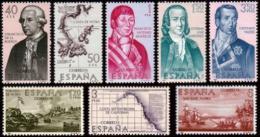 Poštovní známky Španìlsko 1967 Budovatelé Ameriky Mi# 1711-18
