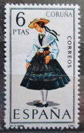 Poštovní známka Španìlsko 1968 Lidový kroj Coruòa Mi# 1739