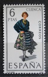 Poštovní známka Španìlsko 1968 Lidový kroj Cuenca Mi# 1754