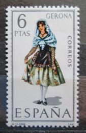 Poštovní známka Španìlsko 1968 Lidový kroj Gerona Mi# 1759