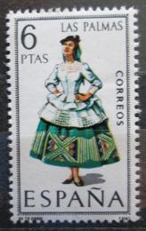 Poštovní známka Španìlsko 1968 Lidový kroj Las Palmas Mi# 1764