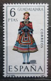 Poštovní známka Španìlsko 1968 Lidový kroj Guadalajara Mi# 1776
