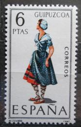 Poštovní známka Španìlsko 1968 Lidový kroj Guipúzcoa Mi# 1781