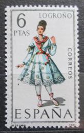 Poštovní známka Španìlsko 1969 Lidový kroj Logroòo Mi# 1811