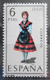 Poštovní známka Španìlsko 1969 Lidový kroj Lugo Mi# 1815