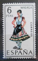 Poštovní známka Španìlsko 1969 Lidový kroj Malaga Mi# 1829